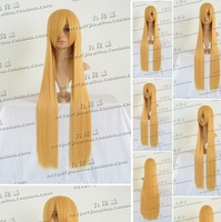 Hot sales!!100cm Blonde long straight length cosplay costume wig.Free shipping