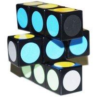 Lanlan 1x3x3 Super Floppy Magic Cube Black Speed Cube Puzzle             M042
