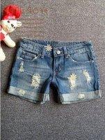Hot sale Women shorts Ladies Short Pants Women's jeans Ladies pant light blue Free shipping