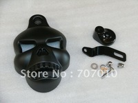 Horn Cover  Davidson Chrome skull  black