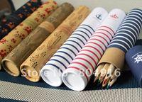 FIRST LINE Cute paper box package wooden colored pencil set 12pcs/set/box ST0795 ST0796
