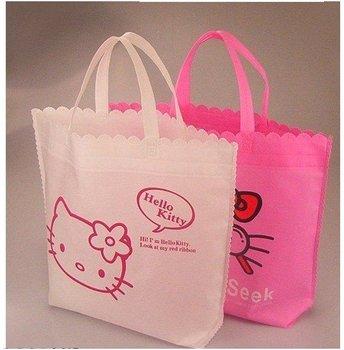 Free shipping! New arrival hello kitty non-woven fabrics cute shipping bag,foldable bag,45.5cm*38cm*11.5cm,wholesale,20 pcs/lot