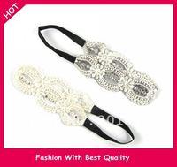 Wholesale and Retail Europe cotton braid Elastic headband hairband colors assorted 12pcs/lot