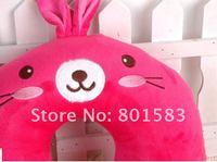 Wholesale Cute Cartoon rose rabbit  Neck Pillow  ,   U Shape pillow for rest