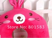 Wholesale Cute Cartoon rose rabbit  Neck Pillow  ,   U Shape pillow for rest
