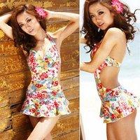 2012 New fashion Free shipping sexy beachwear, hot swimwear, woman ladies swimsuit,one piece floral printing