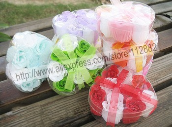 FREE SHIPPING-- 9pcs per set bath clean soap rose, wedding favor rose soap, flowe rose apry gift, wholesale