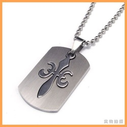 2012 new arrival Free shipping 316L stainless steel dog tag pendant with 50cm chain necklace,factory price(China (Mainland))