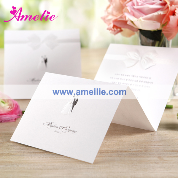 Free Shipping Butterfly designe classical wedding cards /romantic wedding invitation card 100pcs/lot(China (Mainland))
