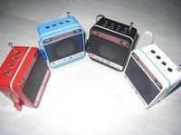 Portable sound card speaker mini-stereo with radio U disk mini speaker to speaker WS918