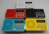 Portable sound card speaker mini-stereo with radio U disk mini speaker to speaker I205