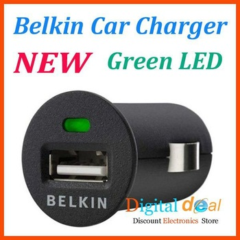 Mini Universal Mobile Belkin USB Car Adapter Charger for iPhone 4s ipod Samsung galaxy Phone 10pcs/lot Free Shipping