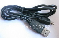 Free shipping USB 2.0 AM to Mini usb cable 5P for  PSP MP3 MP4 player data cable 100pcs/lot