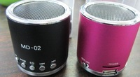 Portable sound card speaker mini-stereo with radio U disk mini speaker to speaker MD02