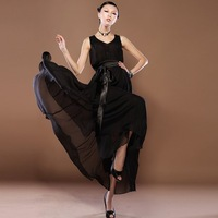 New Summer  Ladies'  Faddish Delicate Solids Chiffon Longuette  Evening Dress Free Shipping (hot-selling!!!)