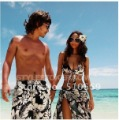 Free shipping New Fashion Men and Women Lovers Beach Pants Leisure Swimwear His-and-hers swimsuit