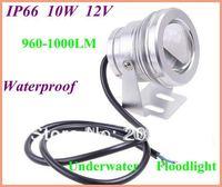 1pcs/lot 12V Waterproof IP66 LED Flood Light outdoor Underwater Floodlight Convex Glass