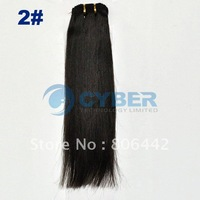"86"" Wide Human Hair Weft/Extensions Straight hair 4Size 2#"