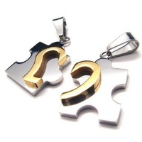 2012 new arrival  Free shipping 316L stainless steel  heart  pendant with 50cm chain necklace,factory price