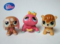 Wholesale - Littlest pet shop magic motion walkables pet dog spider squirrel 3pcs new loose free shipping