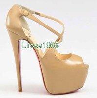 2012 sandals, Strass Daffodil glitter pumps, daffodil nude Daffodil ,2 color high heel shoes, high heels,wedding shoes