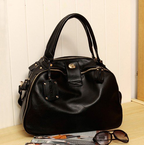Korea Style!Hot Selling PU Lady's Stylish Handbag Classic Design Multicolour women shoulder Messenger bag Free shippingY029(China (Mainland))