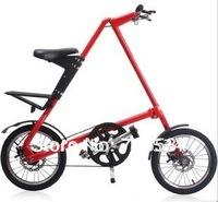 "Folding bike MINI bicycle 14"" 16"" wheel aluminium alloy frame foldable Disk brake bicycle portable high quality"