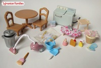 Wholesale - Sylvanian families family laundry washing machine iron set table furniture toy free shipping