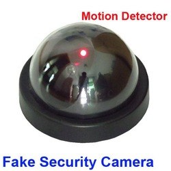 LED Light Dummy Fake Joke Home CCTV Security Camera Motion Detector Sensor(China (Mainland))