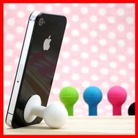 Mini Silicone Stand Holder for iPhone 4G 3G Accessories free shipping