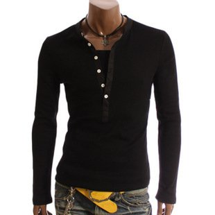 Long Sleeve V-Neck T-Shirts for Men