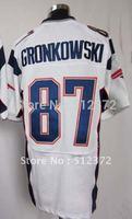 Free Shipping!!! 2012 new style #87 Rob Gronkowski white jersey