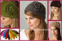 Handmade knitted fashion crochet headband  mix color