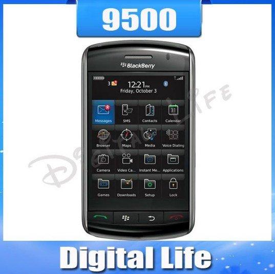 Оригинальные разлоченные Blackberry Storm 9500 Сотовые телефоны 3.2 Мп каме