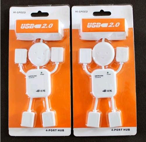 Retail Cheap High-speed USB Hub 4 port 2.0 Robot USB Hub (KH-38)(China (Mainland))