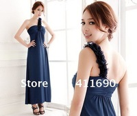 Bra evening dress sexy shoulder dress knee skirt