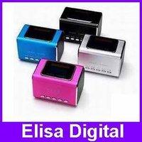 Original Mini Speaker MD05X,digital speaker,support USB/ TF memory card and USB with FM+LCD screen+Crystal box,RY9002
