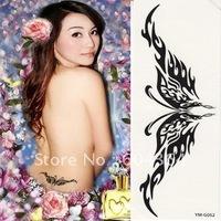 YM-G052/ water and sweat proof rub-on transfer tatoo stickers/luminous tatoo sticker