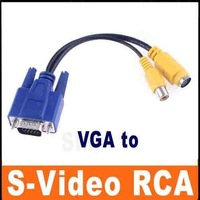 VGA to TV Converter S-Video / RCA OUT Cable Adapter