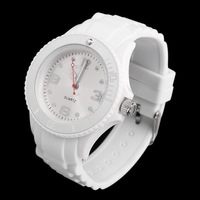 Classic Gel Stylish Silicone Wrist Watch Jelly Strap Jelly Strap Gifts White