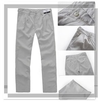 $15 off per $150 order!  2012 new mens leisure thin straight long trousers beige pants men, Wholesale and retail!