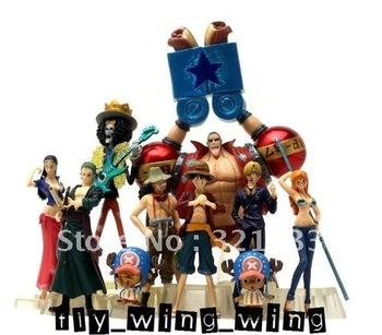 One Piece anime the new world franky luffy zoro nico nami sanji usopp 10 pcs set