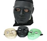 tactical full mask Hockey Polymer Mask Defensive Protective Face Mask (MK-TAN)