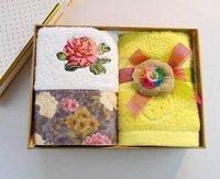 New Nice Innovative Intimate High-Grade Towel Gift Set 100% Cotton 2pcs of Face Towel   Set  TH39 Free Shipment