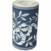 Free Shipping Flower Pattern Self Adhesive PVC Home Decor Wallpaper Border, Wholesale & Retail