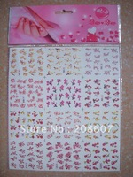 Freeshipping Nail Art Sticker 2D Water Decal 10pcs/lot  Multicolor Manicure Sticker