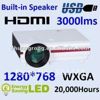 720P LCD USB HD Mini Projector 3000lumens