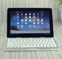 Sleep Function New Aluminum 360 Case Bluetooth Keyboard For Samsung Galaxy Tab 10.1 P7510 P7500