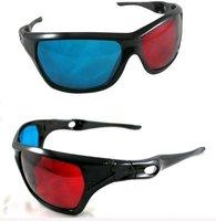 3 pcs/pack New Red Blue Cyan 3D Glasses Universal Type 3D Vision Plastic Glasses (KH-13)