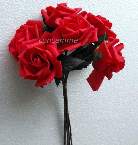 buquê de casamento 240 hastes espuma vermelha rosa cacho--- grande(China (Mainland))